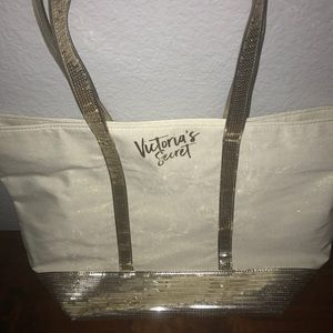 Sparkly gold, VS tote